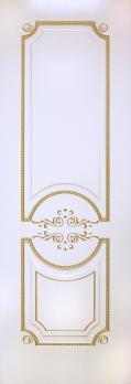 Фото двери Б5 цвет Золотистая эмаль патина