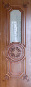 Фото двери Б7 цвет Шпон орех