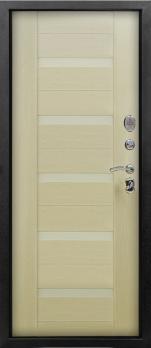 Входная дверь Люкс - цвет Лиственница беленая