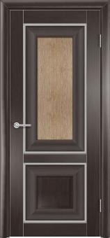 Фото двери S45 цвет Орех темный рифленый ДО