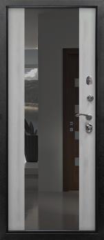Входная дверь Сенатор зеркало - цвет Лиственница беленая