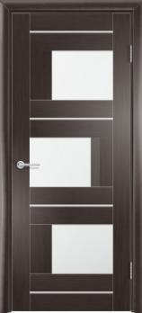 Фото двери S5 цвет Темный орех рифленый
