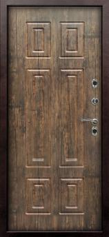 Входная дверь Сибирь Тундра-MAXI - цвет Тиковое дерево